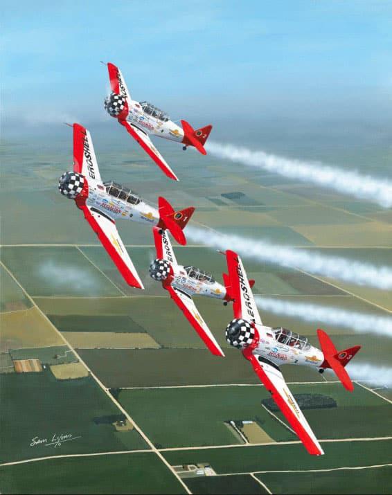 Aerobatic-Magic, Aviation Art by Sam Lyons