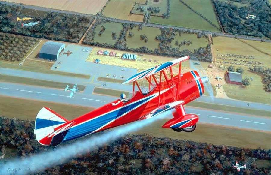 Airshow, Aviation Art by Sam Lyons