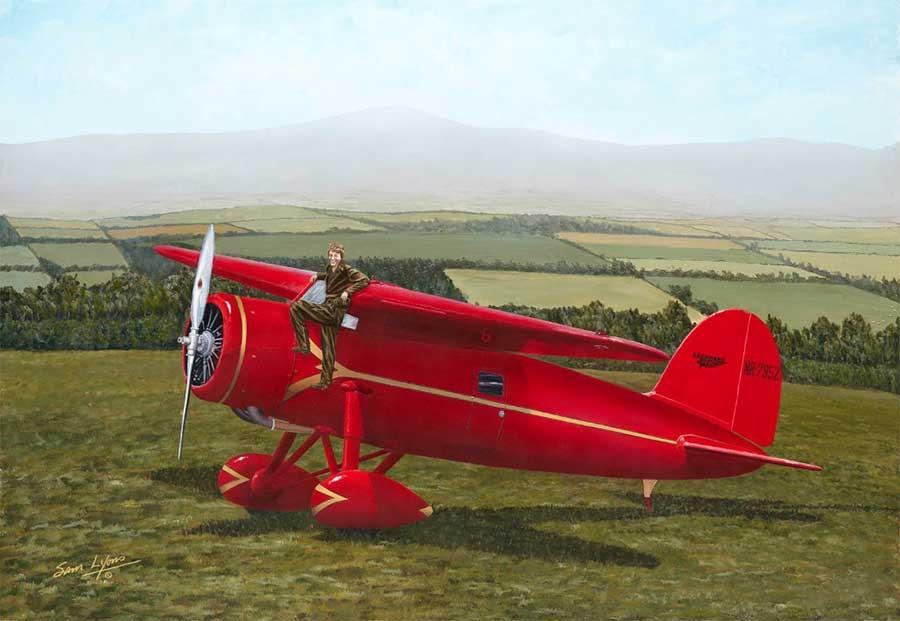 Ameilias-Wheels, Aviation Art by Sam Lyons