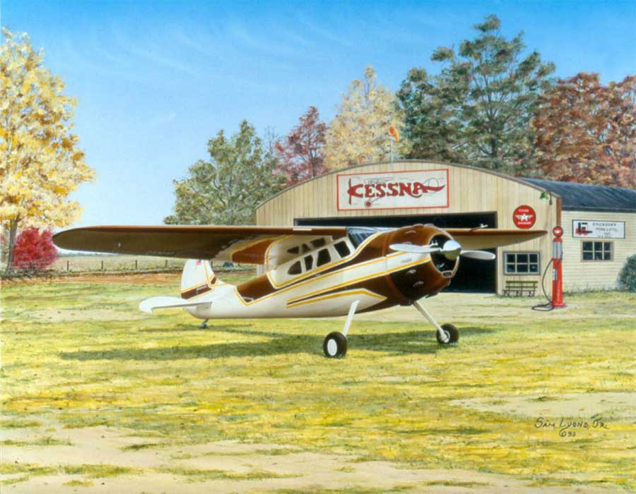 Autumn-Classic, Aviation Art by Sam Lyons