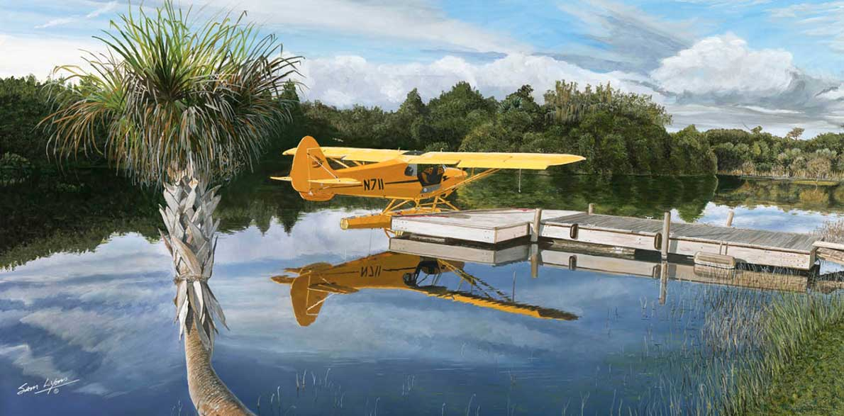 Cub-at-Quail-Creek, Aviation Art by Sam Lyons