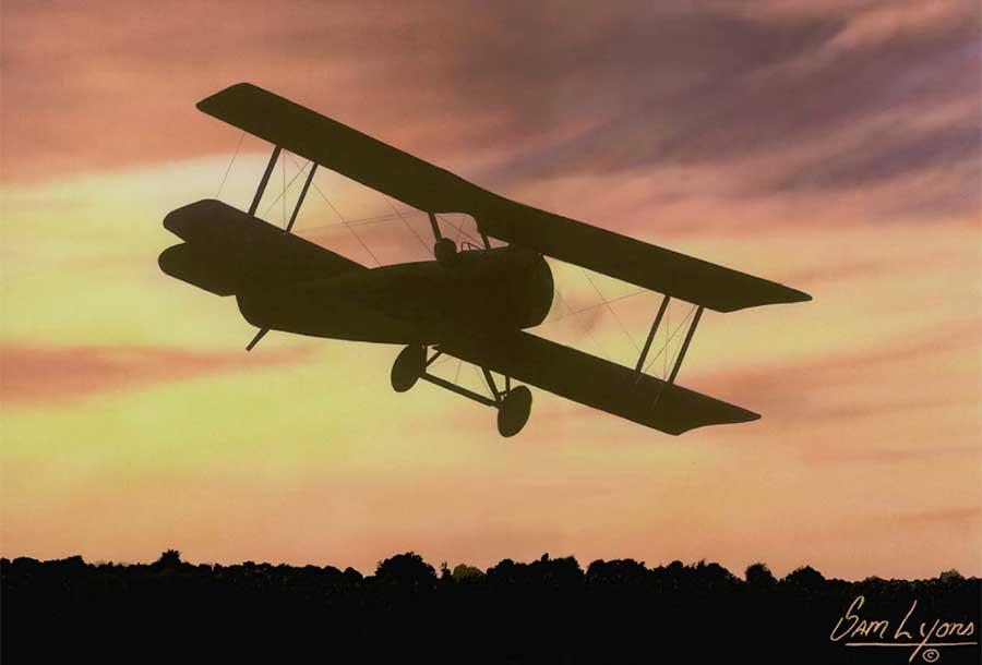 Aviation Art by Sam Lyons, Dawn Flight