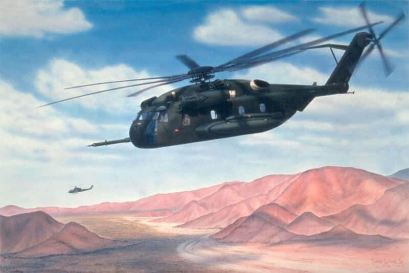 Desert-Stallion, Aviation Art by Sam Lyons
