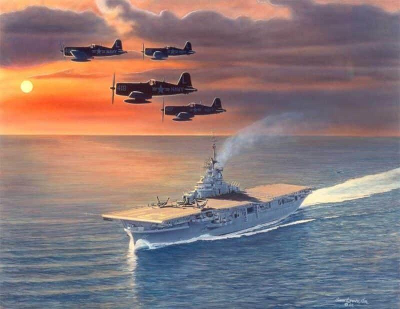 Evening-Return, Aviation Art by Sam Lyons