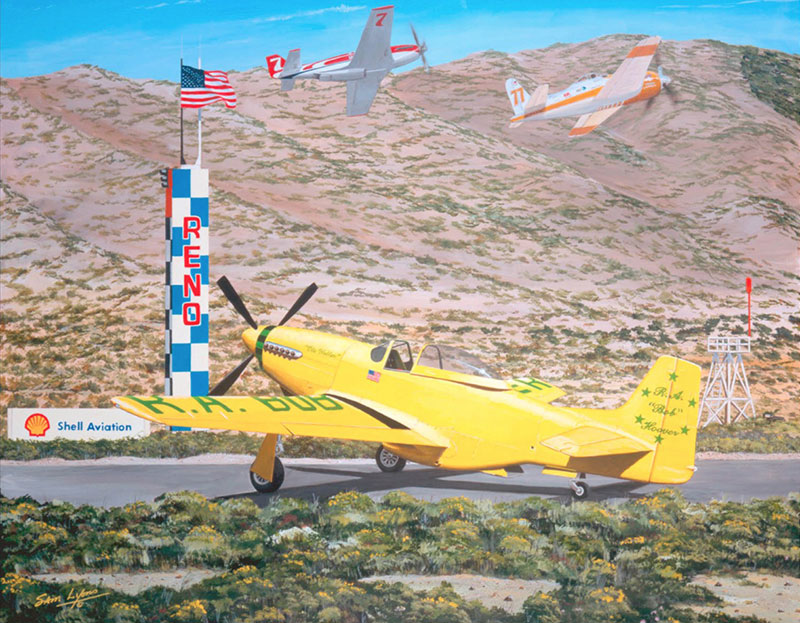 Aviation Art by Sam Lyons, Hoover's Ole Yeller
