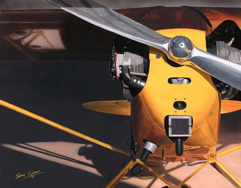 Aviation Art by Sam Lyons, J3 Morning