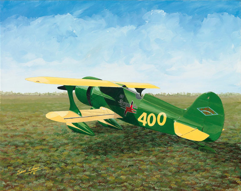 Aviation Art by Sam Lyons, Laird Super Solution Air Racer