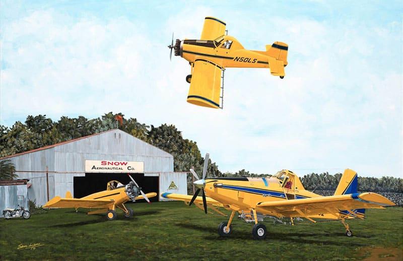 Leland's Legacy, Leland Snow, Aviation Art by Sam Lyons.