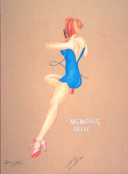 Aviation Art by Sam Lyons, Memphis Bell Nose Art