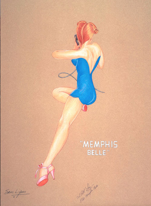 Aviation Art by Sam Lyons, Memphis Bell Nose Art