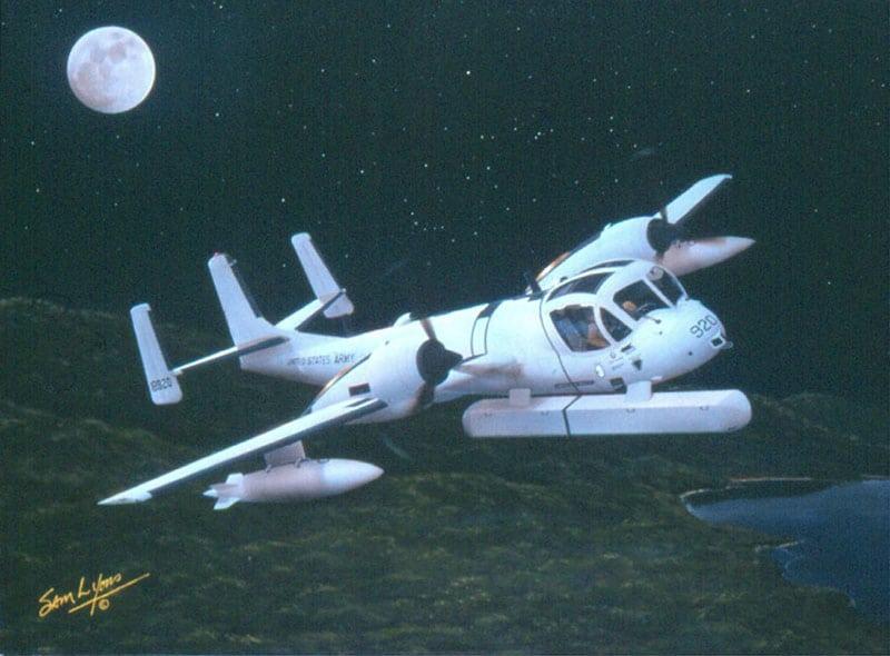 Aviation Art by Sam Lyons, Mohawk Moon