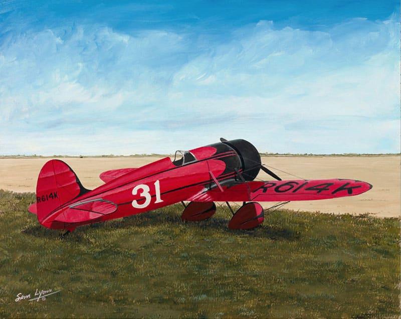 Aviation Art by Sam Lyons, Mystery Ship Air Racer