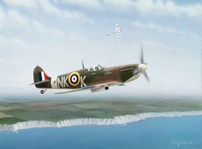 Aviation Art by Sam Lyons, On Patrol