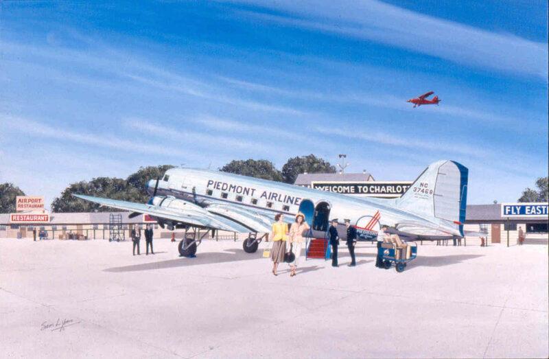 Aviation Art by Sam Lyons, Piedmont Pacemaker