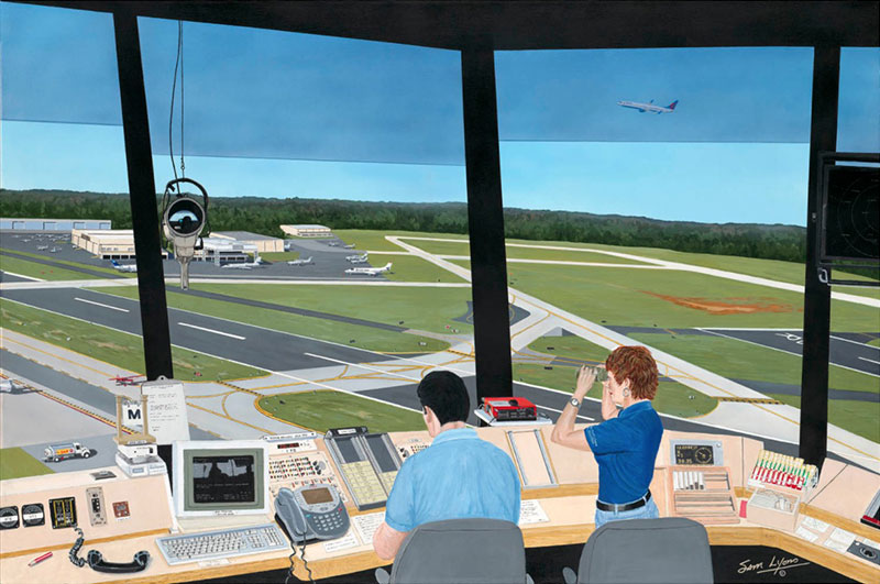 Aviation Art by Sam Lyons, Read Back Correct