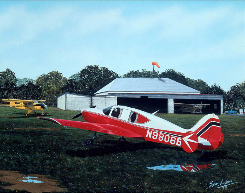 Aviation Art by Sam Lyons, Reflections