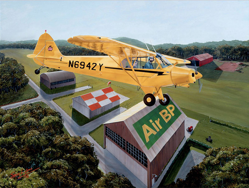 Aviation Art by Sam Lyons, Round the Patch