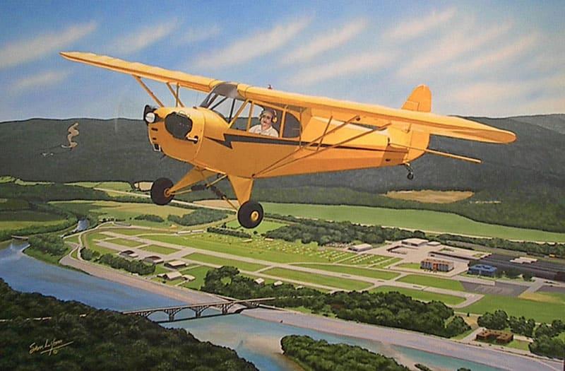 Aviation Art by Sam Lyons, Sentimental Journey