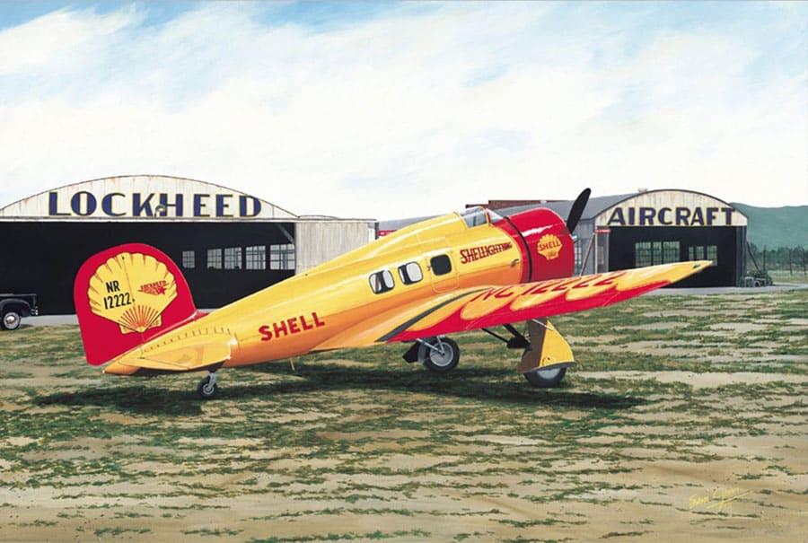 Aviation Art by Sam Lyons, Shellightning