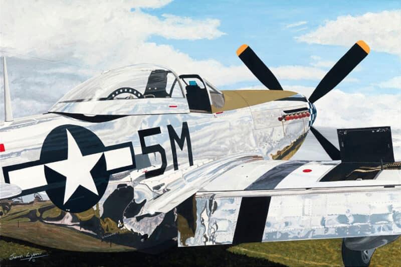Aviation Art by Sam Lyons, Shining Stallion