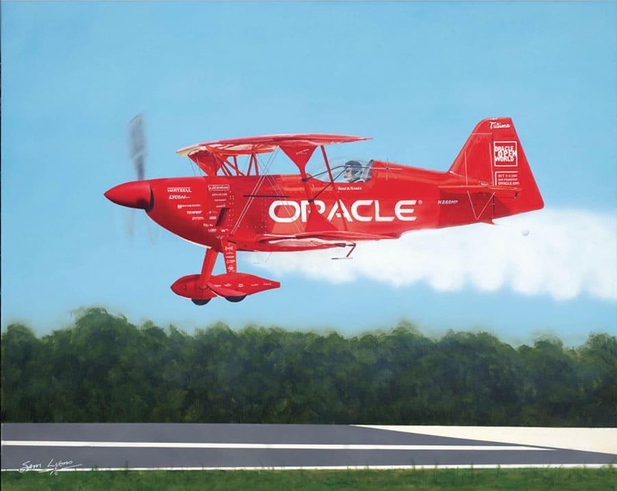 Aviation Art by Sam Lyons, Smoke On