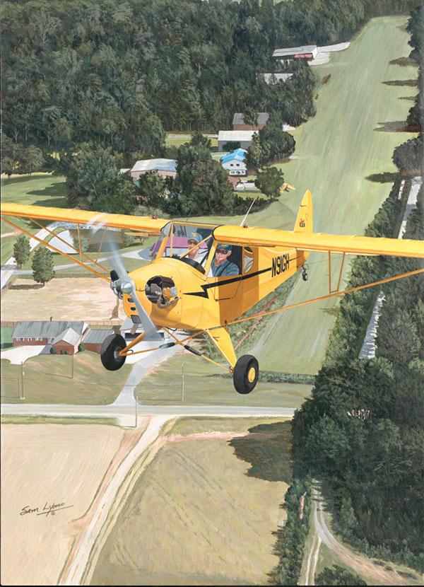 Aviation Art by Sam Lyons, The Legend Begins