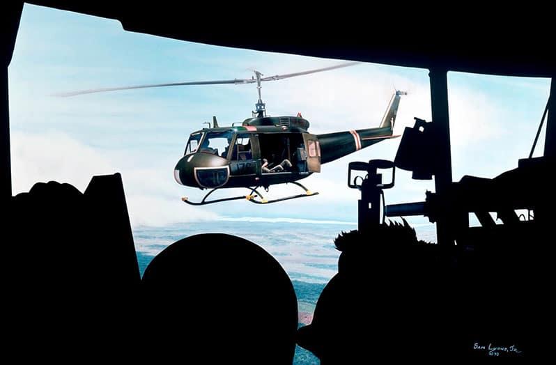 Aviation Art by Sam Lyons, The Ride Back