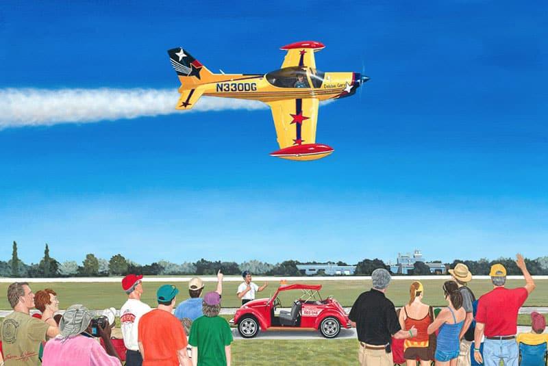 Aviation Art by Sam Lyons, The Last Air Show