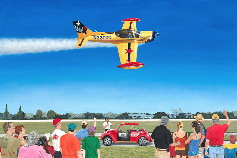 Aviation Art by Sam Lyons, The Last Air Show