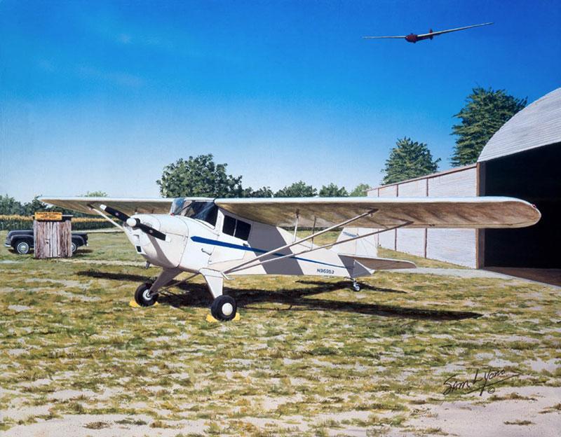 Aviation Art by Sam Lyons, Timeless T-Craft