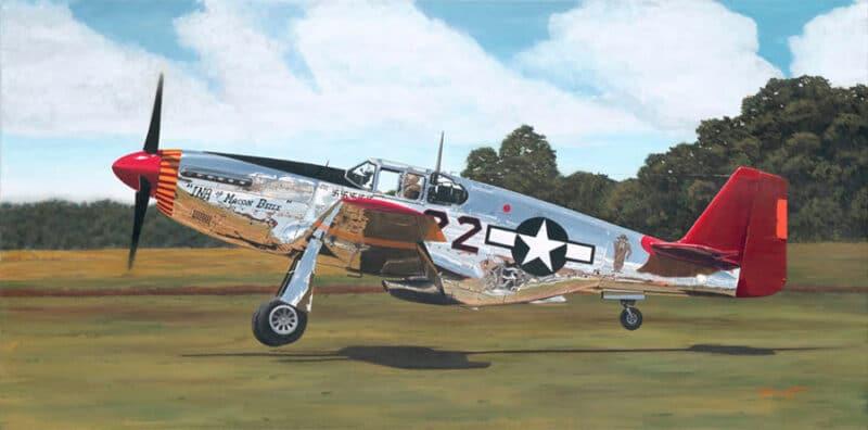 Aviation Art by Sam Lyons, Tuskegee Ace