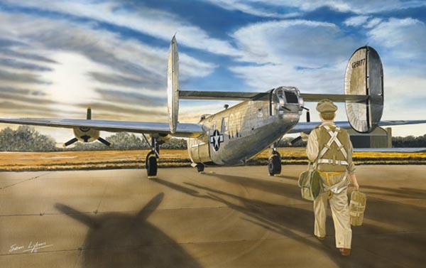 Aviation Art by Sam Lyons, Yesterdays Heros