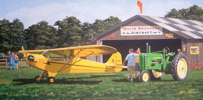Aviation Art by Sam Lyons, Field-of-Dreams