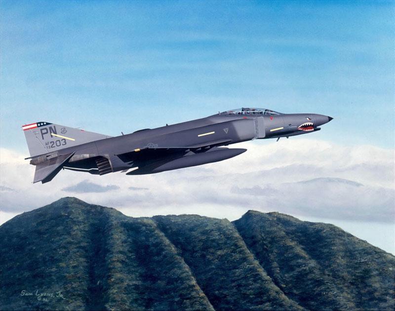 Aviation Art by Sam Lyons, Final-Flight
