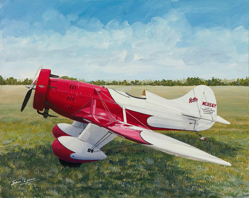 Gee-Bee-Air-Racer, Aviation Art by Sam Lyons