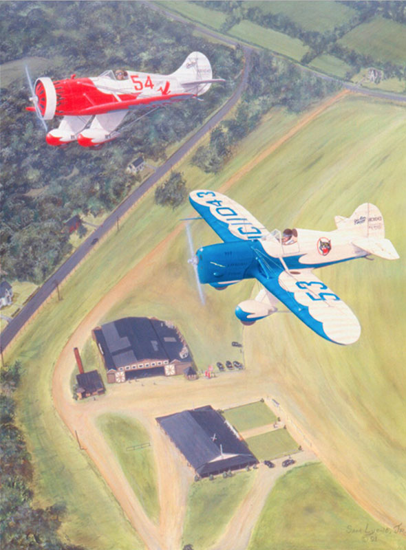 Aviation Art by Sam Lyons, Gee-Bee-Sportsters