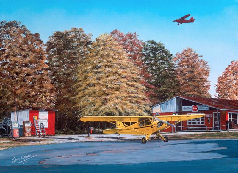 Aviation Art by Sam Lyons, Golden-Times