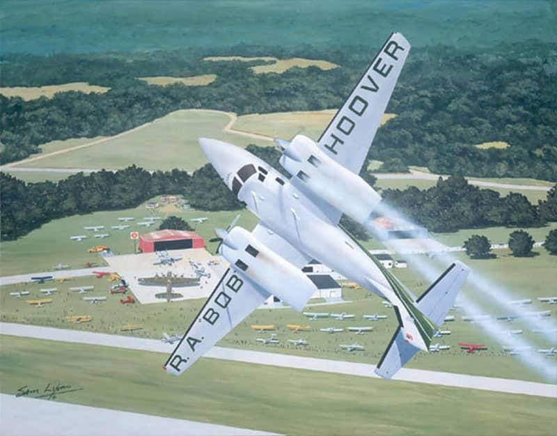 Aviation Art by Sam Lyons, Hoover's Maneuver