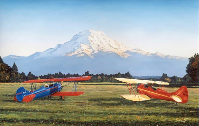 Aviation Art by Sam Lyons, Summer