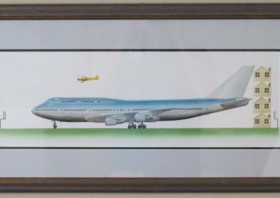 Sam Lyons of Painting of 747 Cub Book Illustration