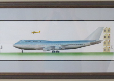 Sam Lyons of Painting of 747 Cub Book Illustration