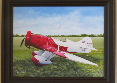 Painting of Gee Bee Air Racer
