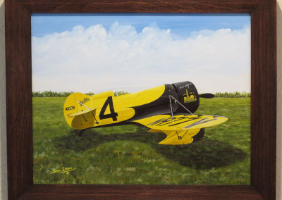 Painting of Gee Bee Z Air Racer