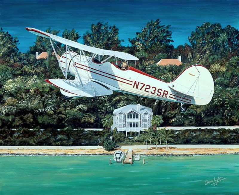Aviation Art by Sam Lyons, Waco Classic